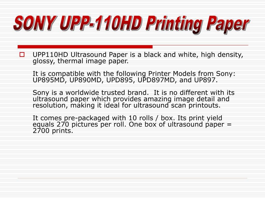 SONY UPP-110HD Printing Paper