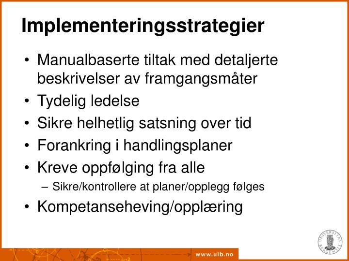 Implementeringsstrategier
