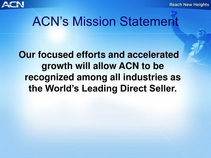 ACN's Mission Statement