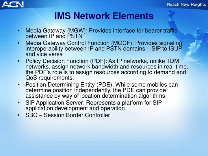 IMS Network Elements