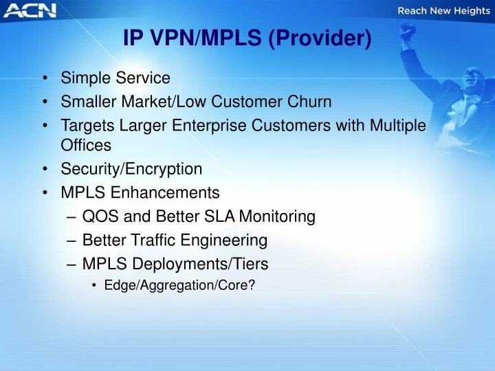 IP VPN/MPLS (Provider)