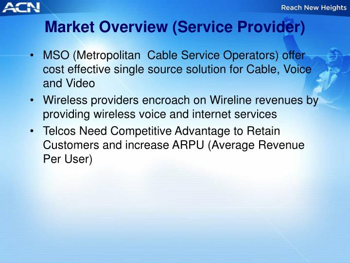 Market Overview (Service Provider)