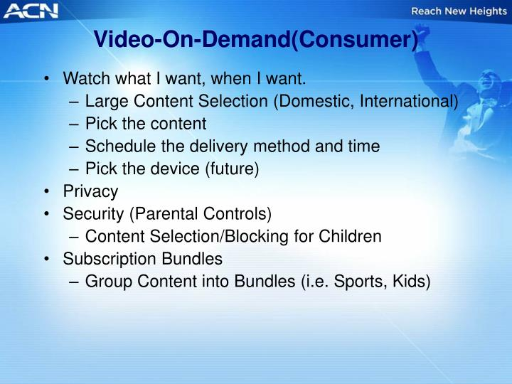 Video-On-Demand(Consumer)