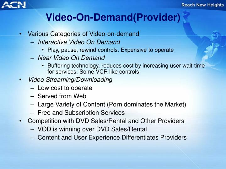 Video-On-Demand(Provider)