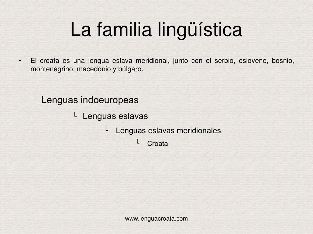 La familia lingüística