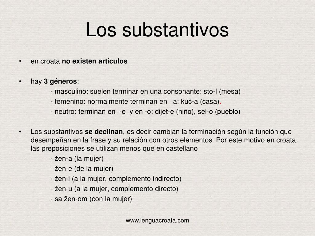 Los substantivos