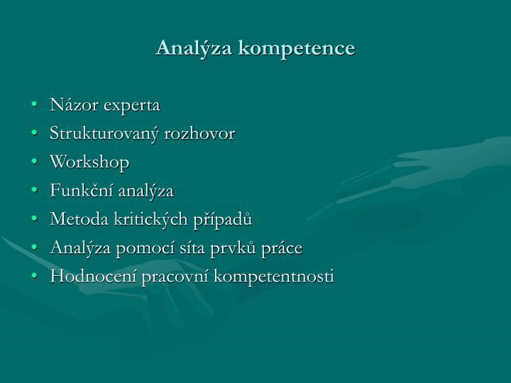 Analýza kompetence