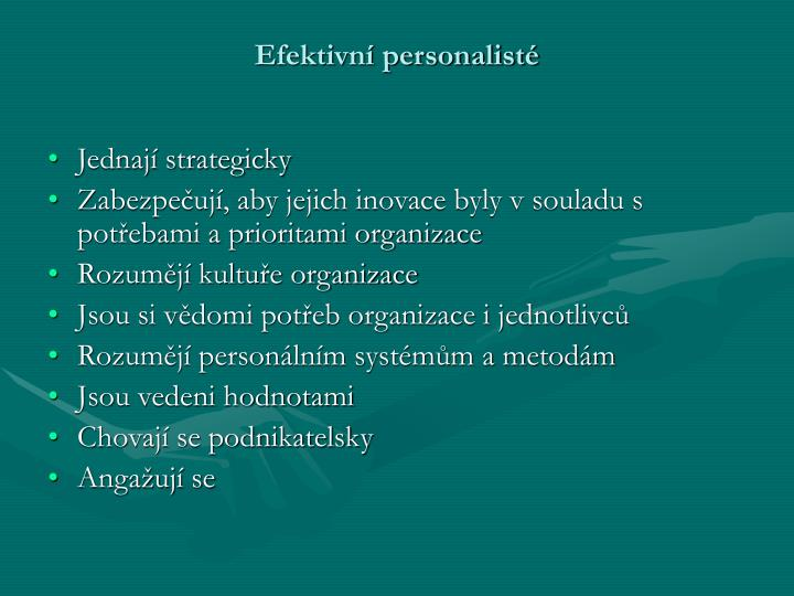 Efektivní personalisté