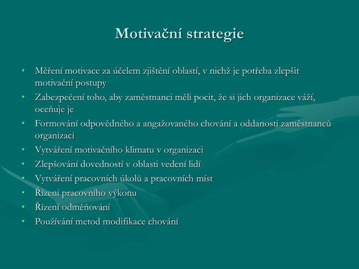 Motivační strategie