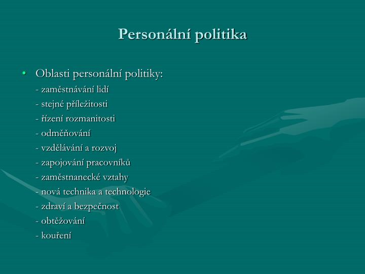 Personální politika