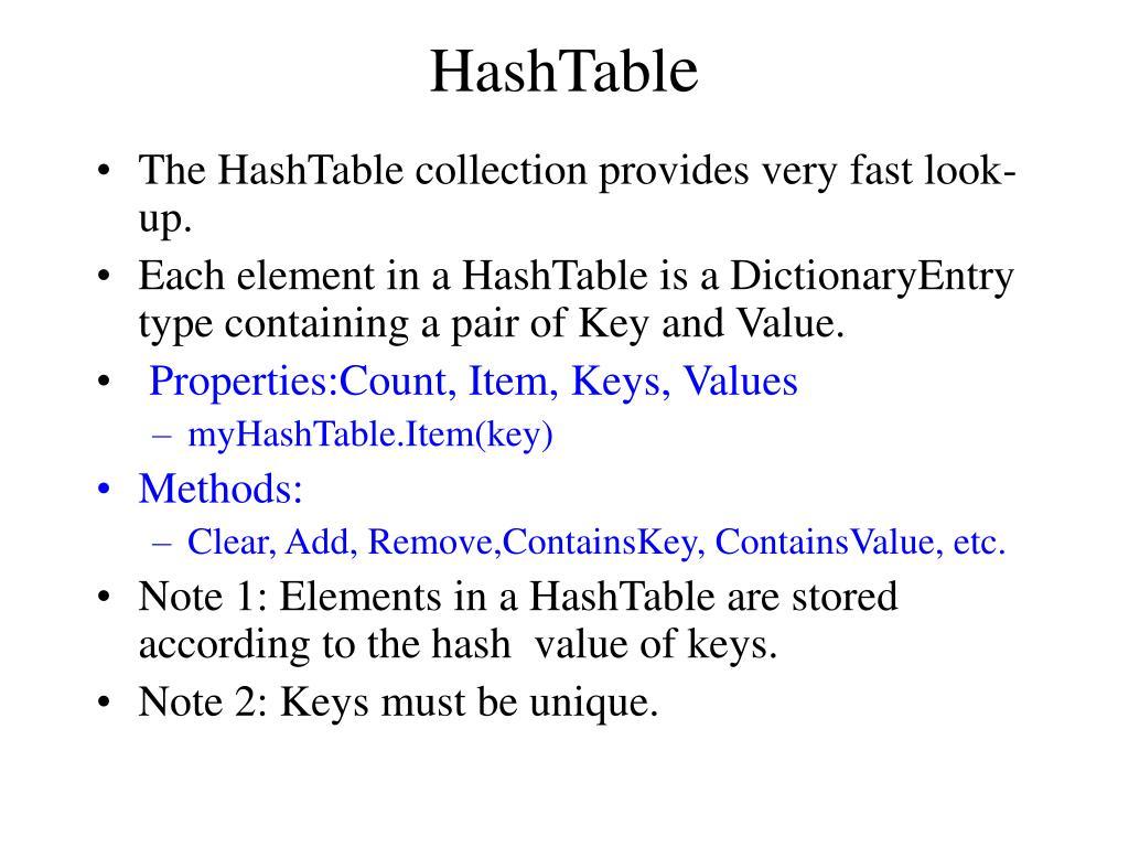 HashTabl