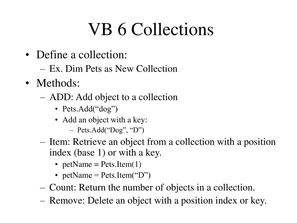 VB 6 Collections
