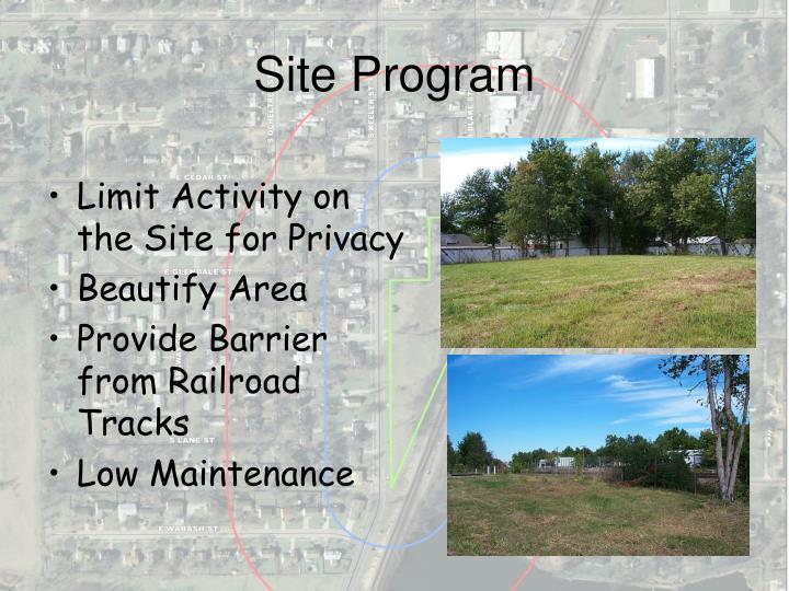 Site Program