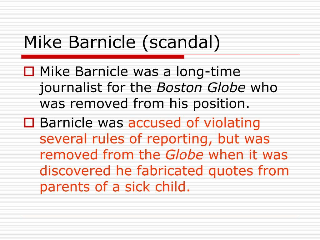Mike Barnicle (scandal)