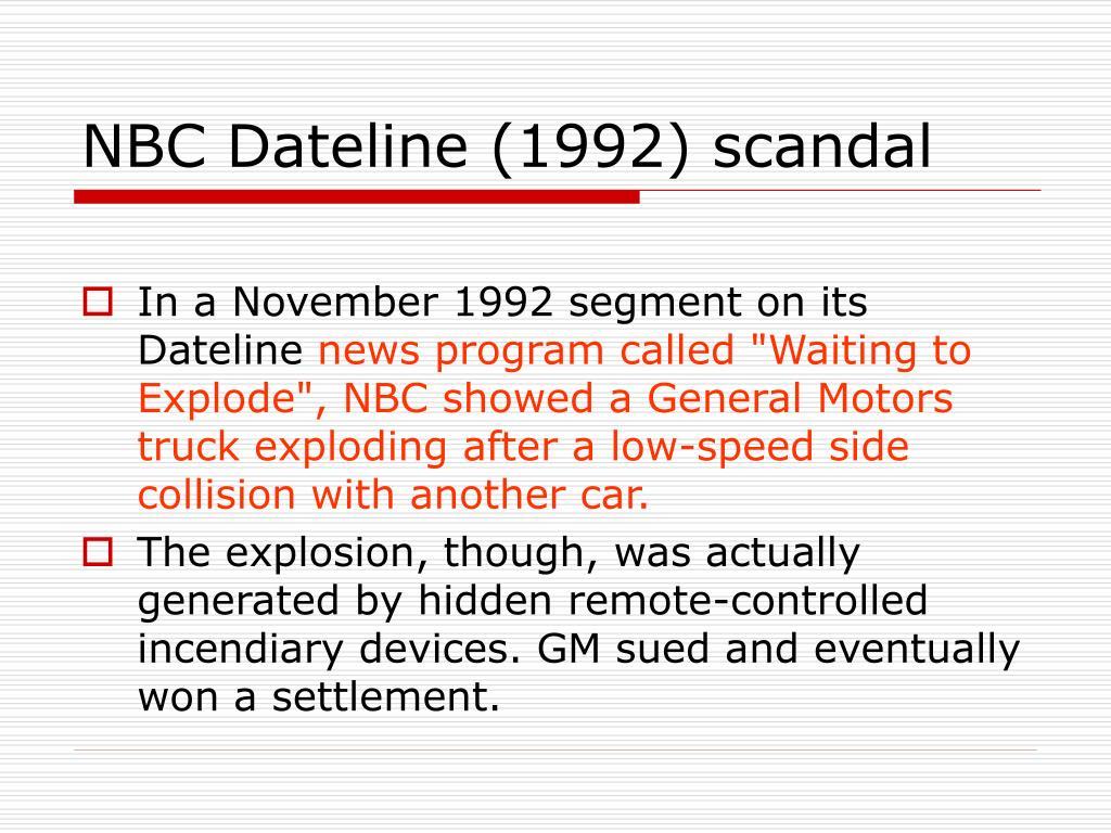 NBC Dateline (1992) scandal