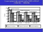 i nuovi prezzi dei cereali nella cee in ecu t 1992 93 1995 96