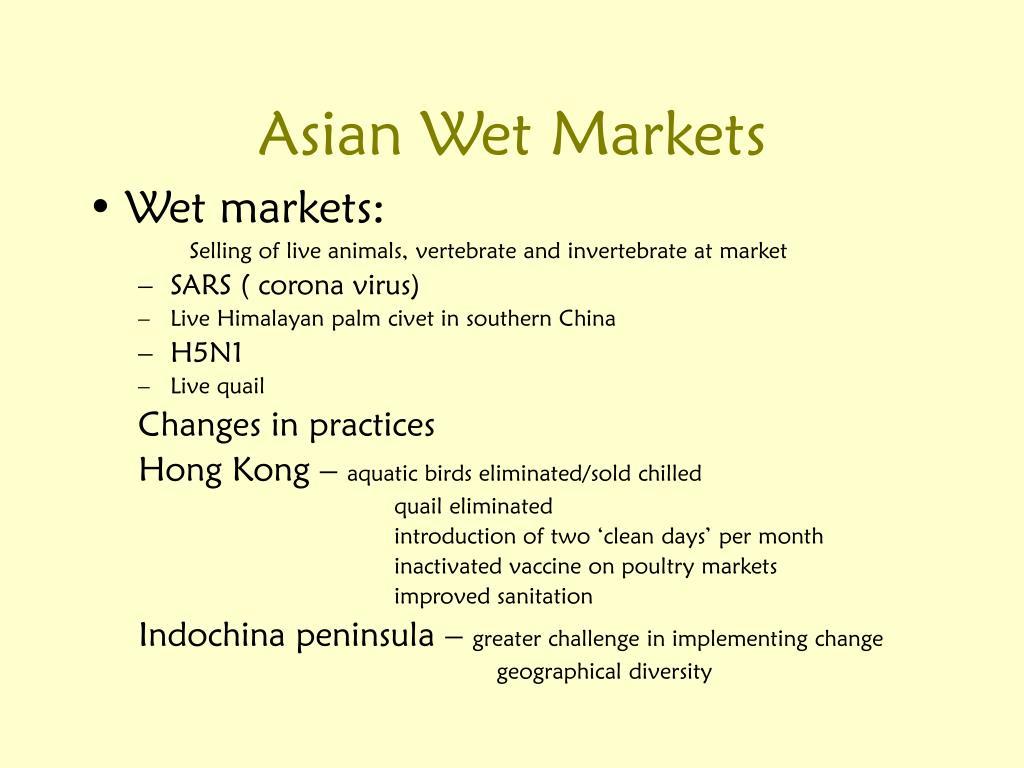 Asian Wet Markets