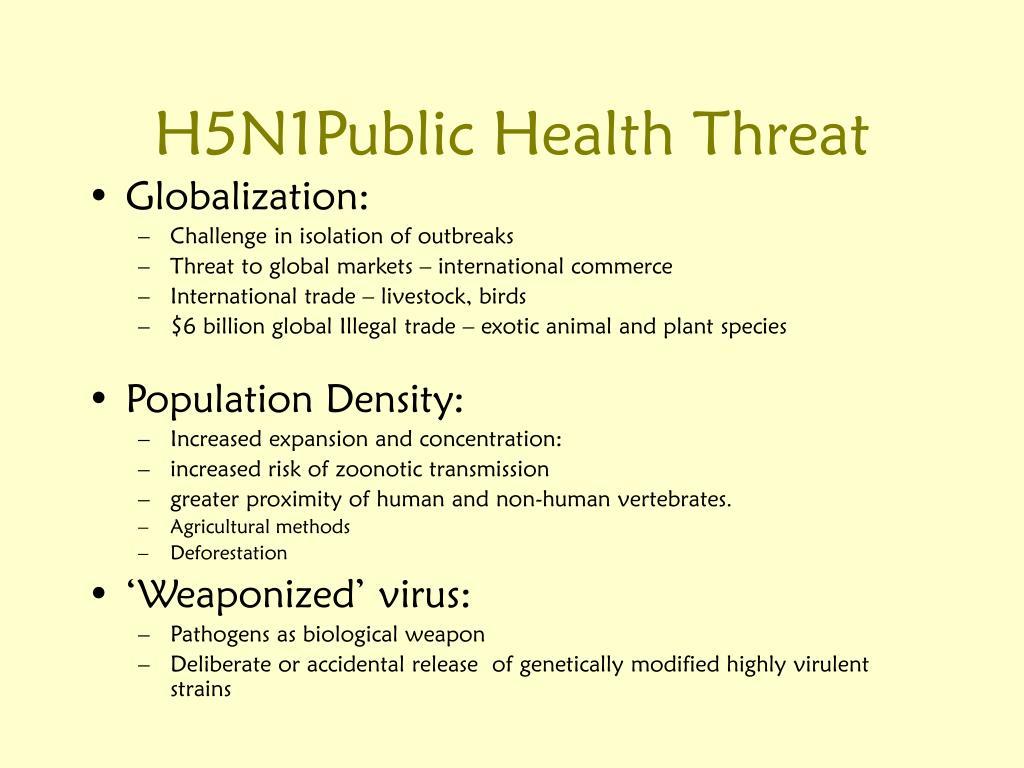 H5N1Public Health Threat