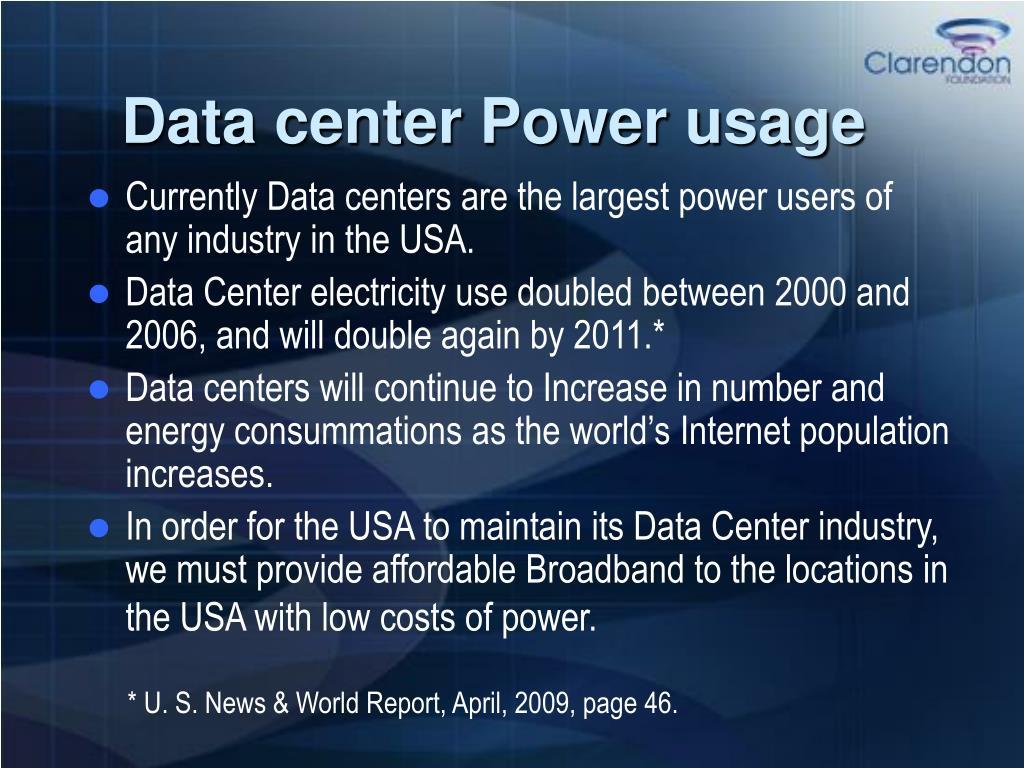 Data center Power usage