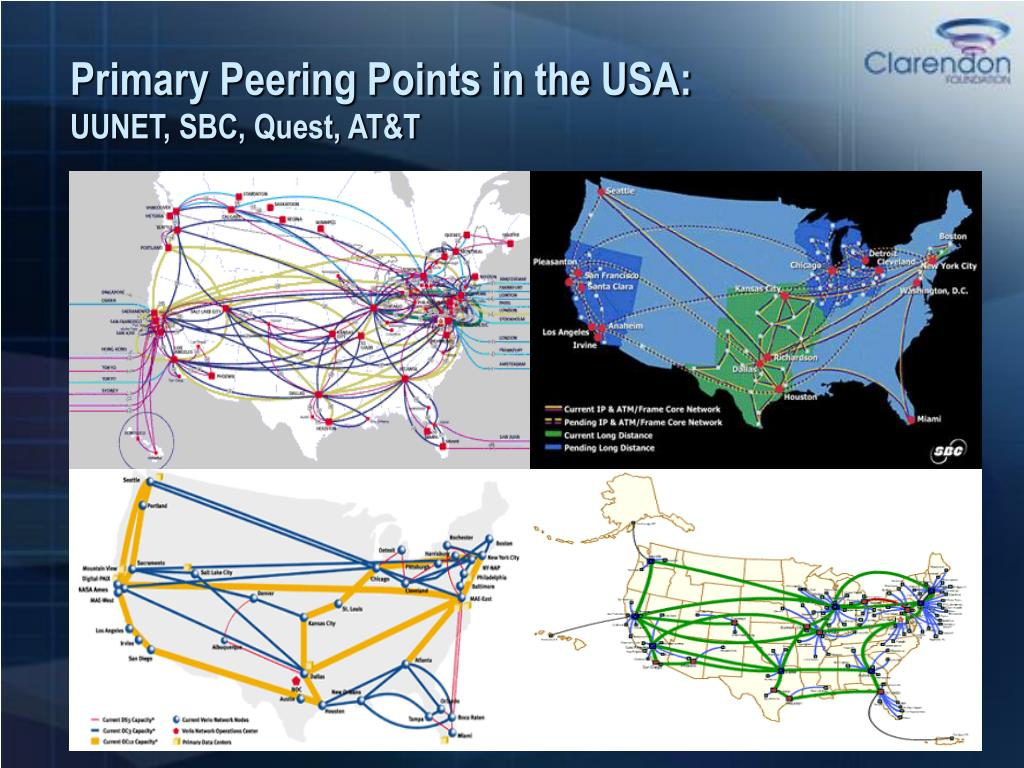 Primary Peering Points in the USA: