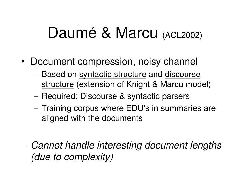 Daumé & Marcu