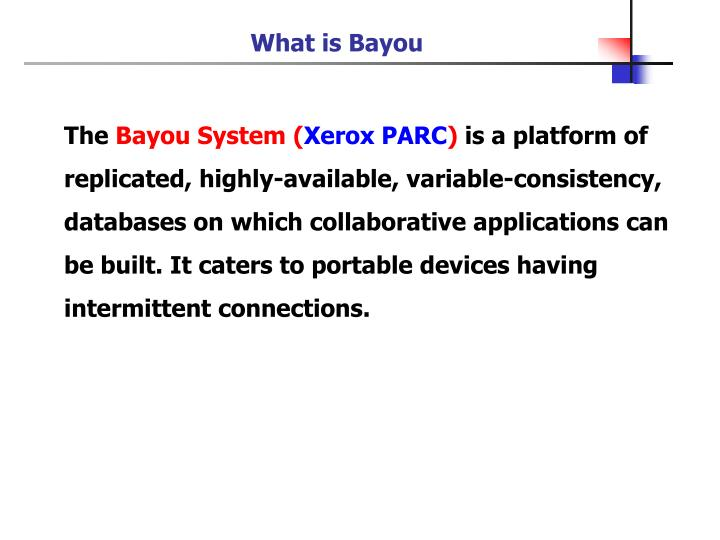 What is Bayou