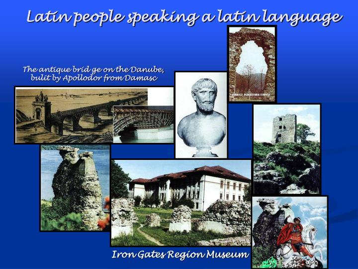 Latin people speaking a latin language