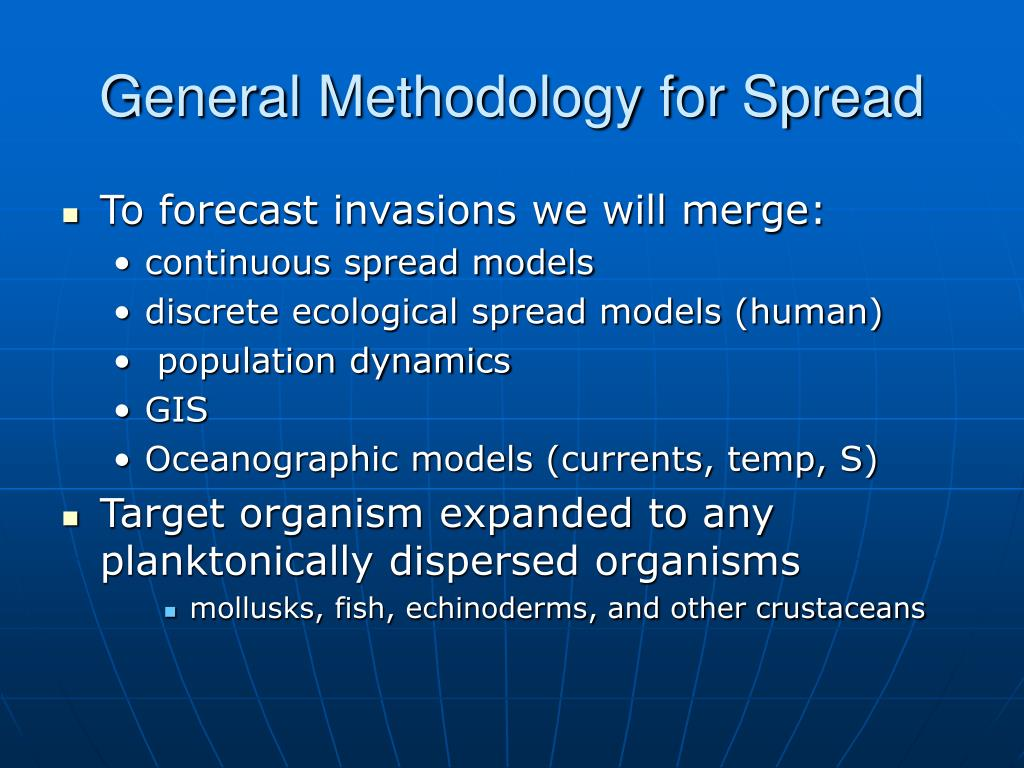 General Methodology for Spread