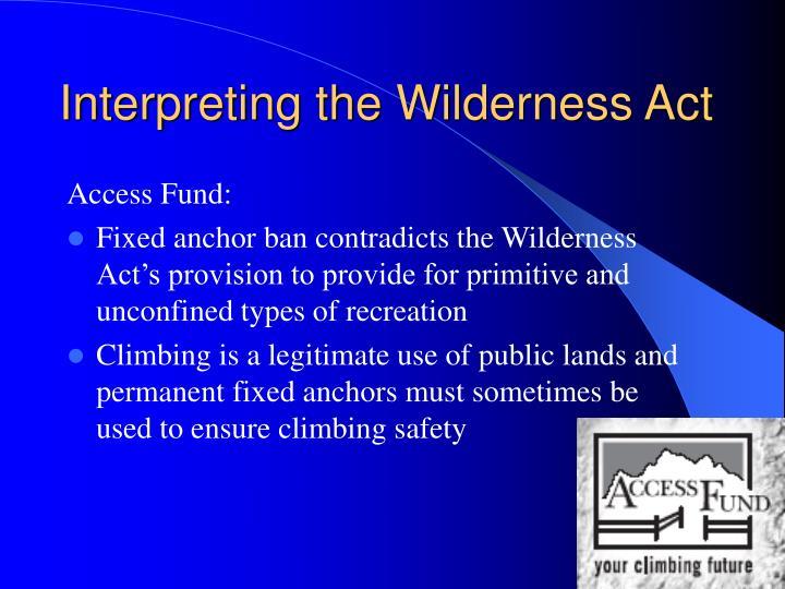 Interpreting the Wilderness Act