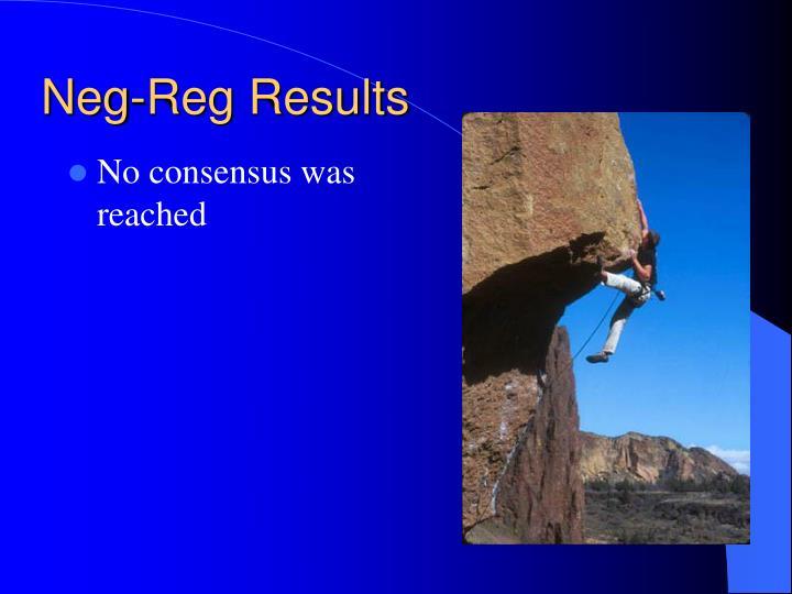 Neg-Reg Results