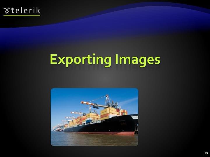 Exporting Images