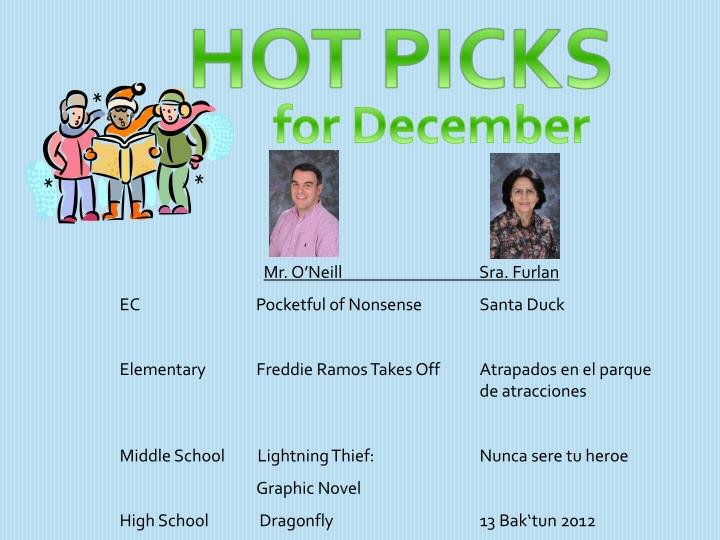 HOT PICKS