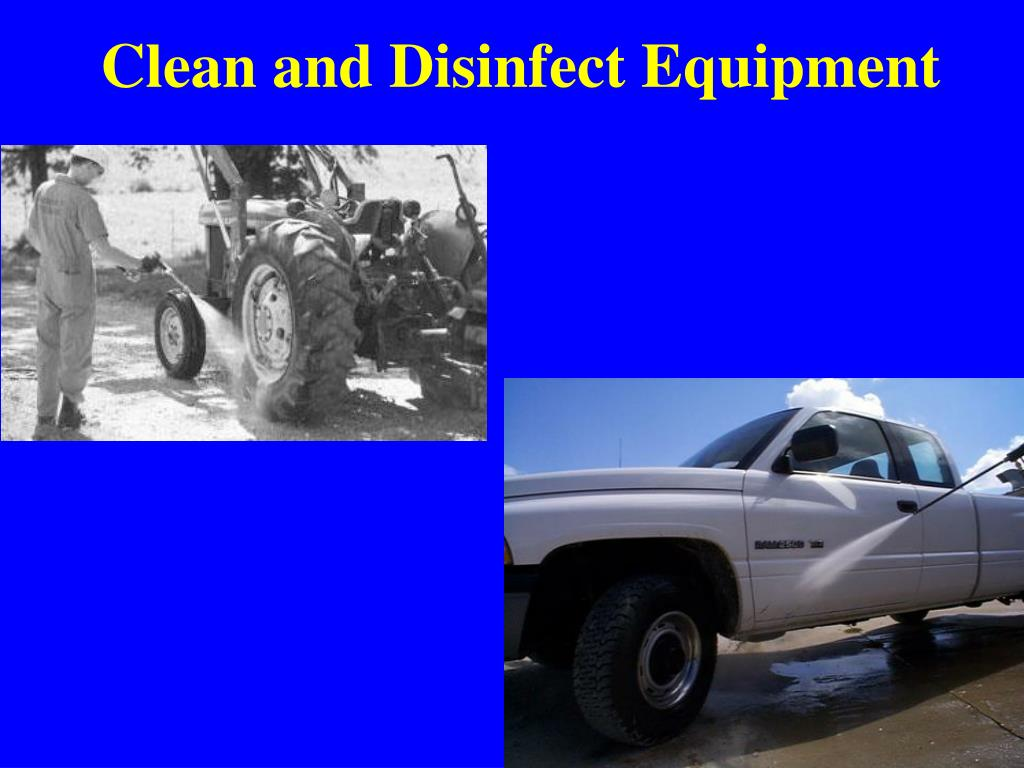 Clean and Disinfect Equipment