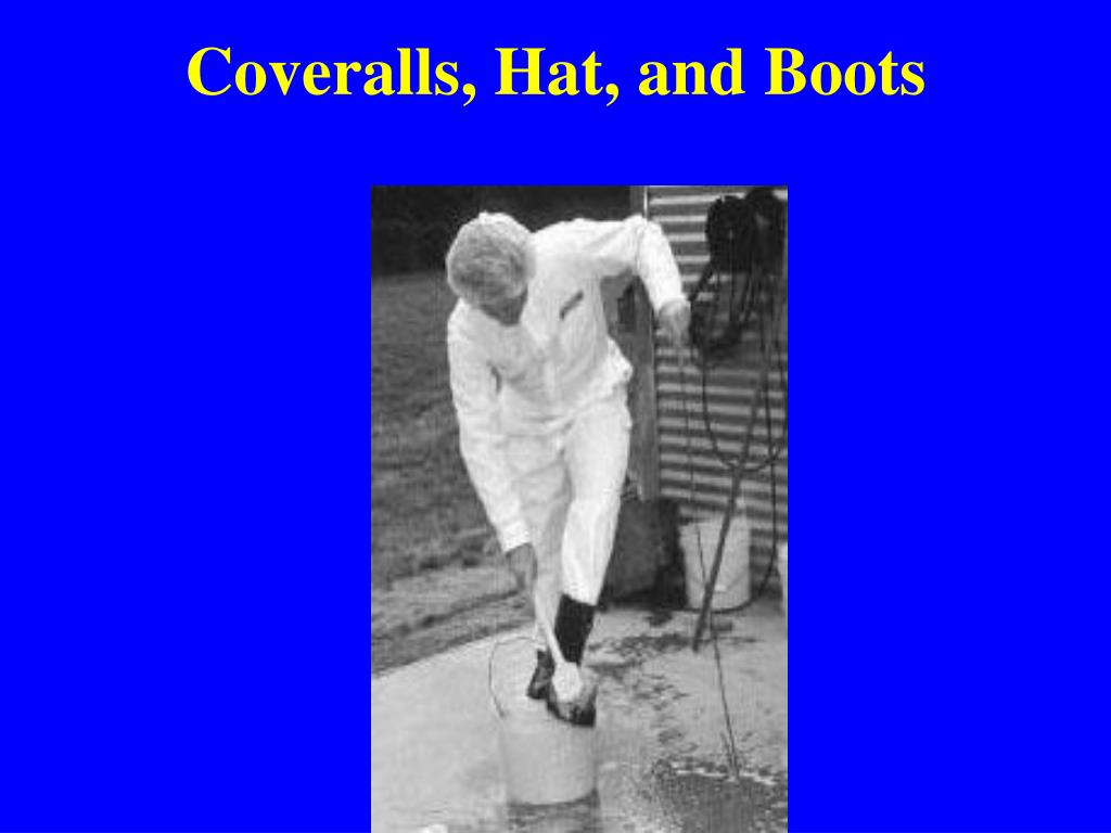 Coveralls, Hat, and Boots