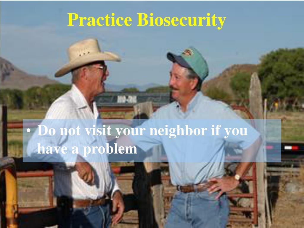 Practice Biosecurity