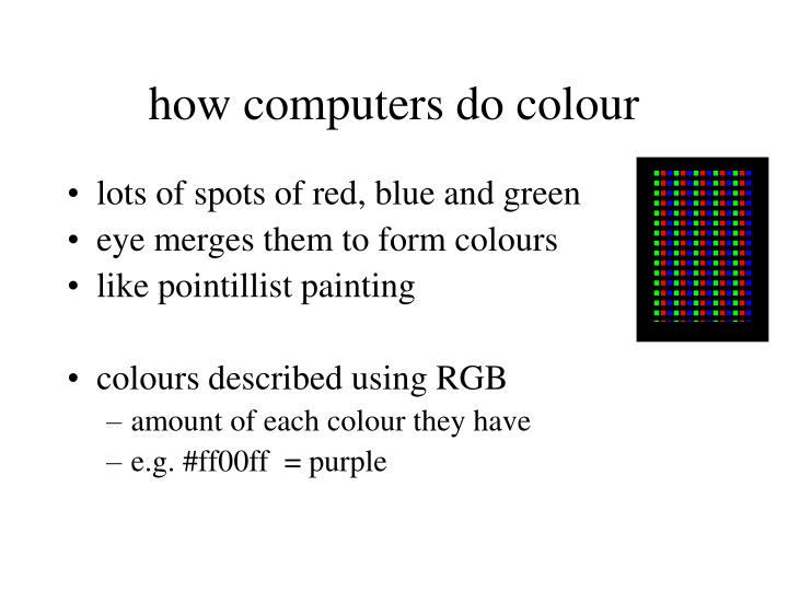 how computers do colour