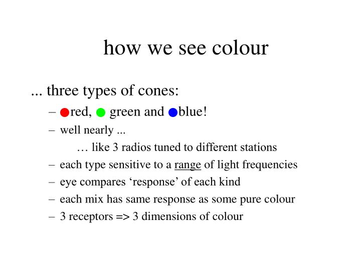 how we see colour