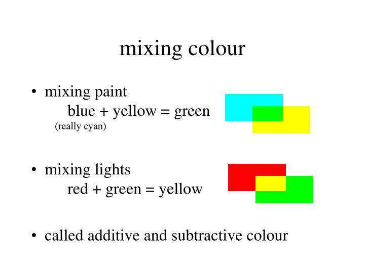 mixing colour