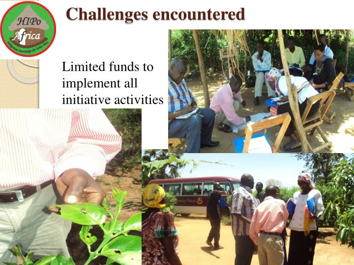 Challenges encountered