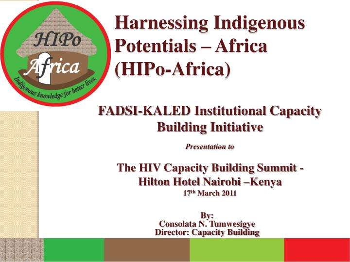 Harnessing indigenous potentials africa hipo africa