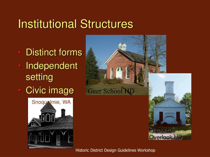 Institutional Structures