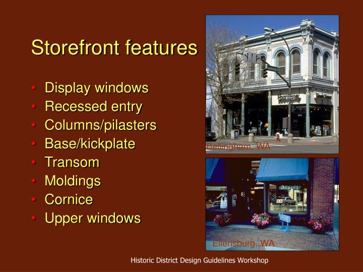 Storefront features
