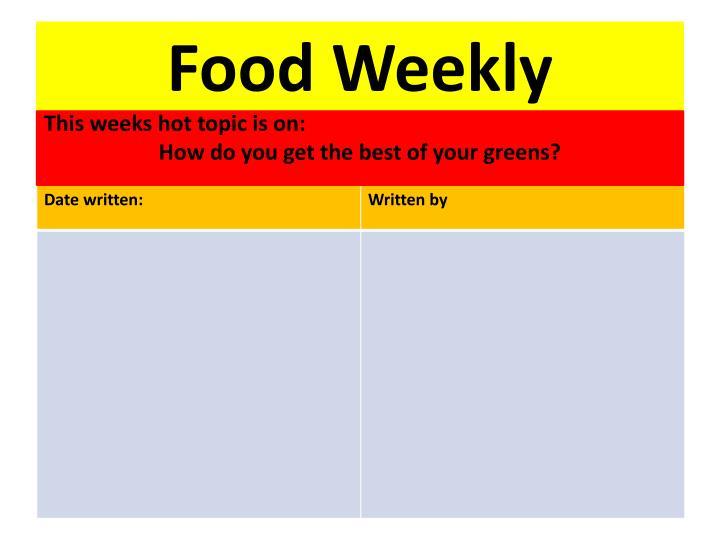 Food Weekly