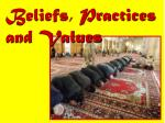 beliefs practices and values