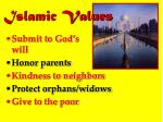 islamic values