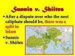 sunnis v shiites