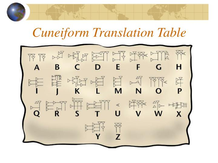 Cuneiform Translation Table