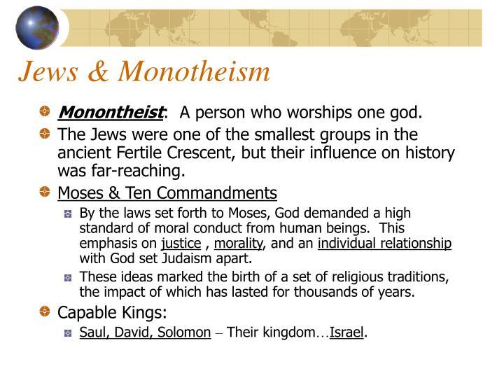 Jews & Monotheism