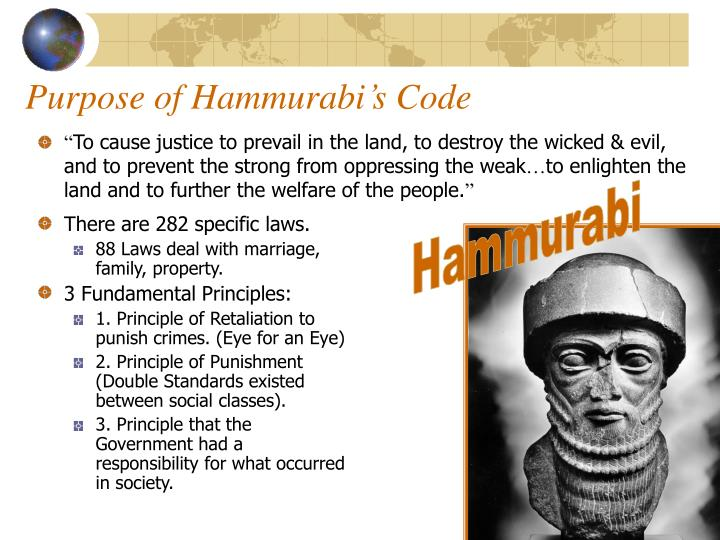 Purpose of Hammurabi's Code