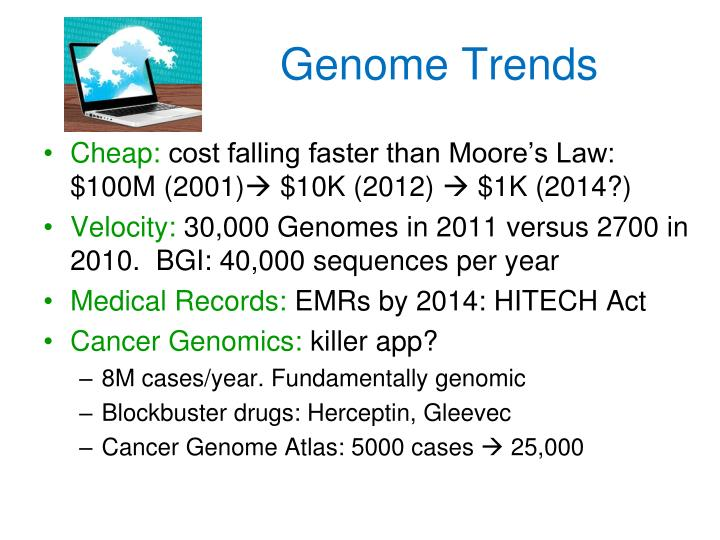Genome trends